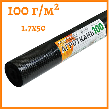 Агроткань черная 100 г/м²  1.7 х 50 м