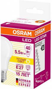 Лампа LED Osram CL A LS 40 5,5W/827 230V FR E27 Специальное предложение