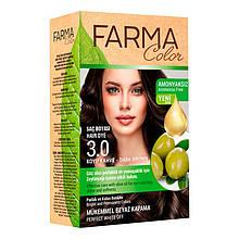 Крем - краска для волос без аммиака Farmasi Farma Color Турция / Far - 7090235 3.0 темно-коричневый