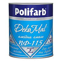 Эмаль Polifarb ПФ-115 желтая,  0,9 кг  DekoMal