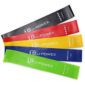🔝 Резинка для фитнеса упражнения, (46798), 5 цветов в наборе, фитнес лента, U-Powex | 🎁%🚚