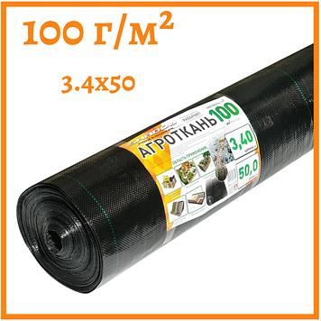 Агроткань черная 100 г/м²  3.4 х 50 м.