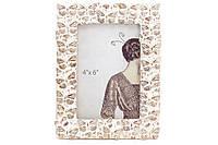 Рамка для фото Мотыльки, 20см, цвет - сливочно-белый с золотой патиной BonaDi 450-170