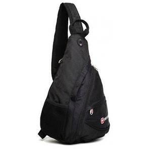 🔝 Однолямочный рюкзак, слинг, Wenger SwissGear Small Swiss Sling, маленький рюкзачок, молодежный   🎁%🚚