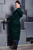 Длинное  женское демисезонное пальто на запах  из кашемира в 5-ти цветах с 42 по 60 размер, фото 3