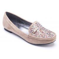 Туфли , мокасины женские замша со стразами