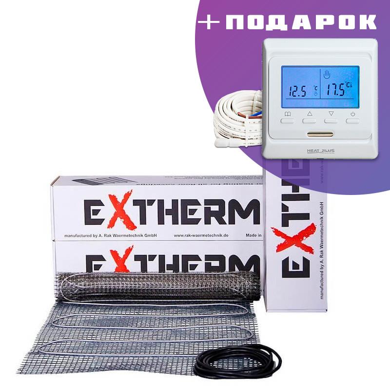 10 м². Мат греющий для теплого пола под плитку  EXTHERM ЕТ ECO / 1800 Вт /  элктрический пол с подогревом