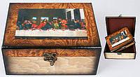 Деревянная шкатулка (набор - 2 шт) 20см BonaDi 412-205