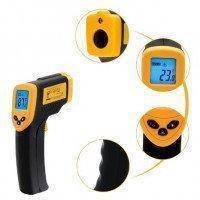 Лазерний цифровий термометр пірометр TS - TM 360, фото 2