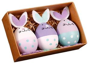 🔝 Пасхальный кролик, набор - 3 шт., пасхальные украшения, поделки на Пасху   🎁%🚚