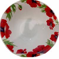 Миска керамика 180мм Цветущие маки  Хозленд уп. 12шт