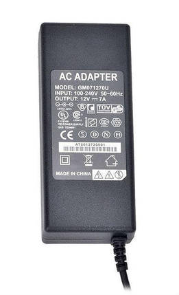 Зарядное устройство для ноутбука ELITE 1207 - 12V 7A (5.5*2.5), фото 2