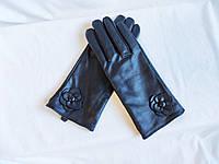 Перчатки женские демисезонные кожаные черные Debenhams (размер XL)