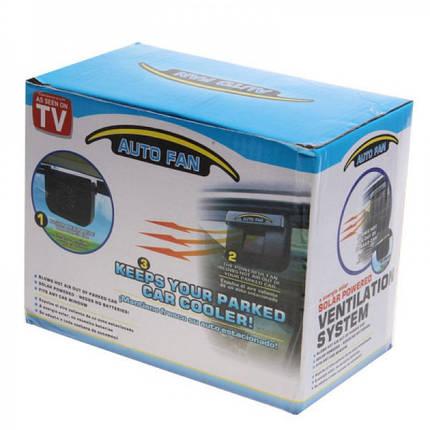 Автомобільний вентилятор Auto Fan на сонячній батареї, фото 2
