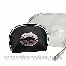 Secret Silver Набор из 2-ух женских косметичек  (силикон, ПВХ, текстиль), фото 3