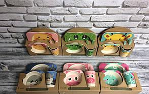 Набор детской посуды Футбол из бамбукового волокна  Eco Bamboo fibre kids set из 5 предметов, фото 2