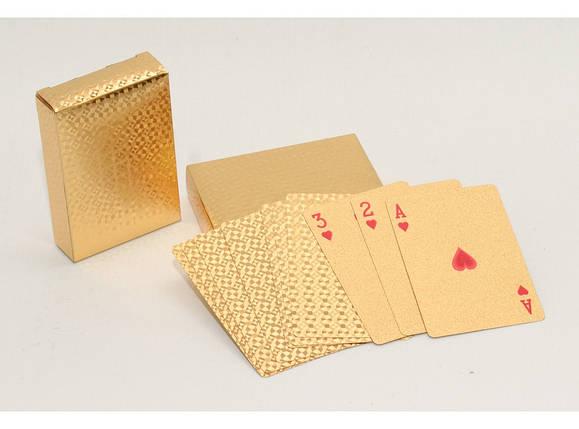 """Пластикові гральні карти """"золото"""" i5-71, фото 2"""