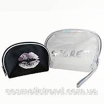 Secret Silver Набор из 2-ух женских косметичек  (силикон, ПВХ, текстиль), фото 2