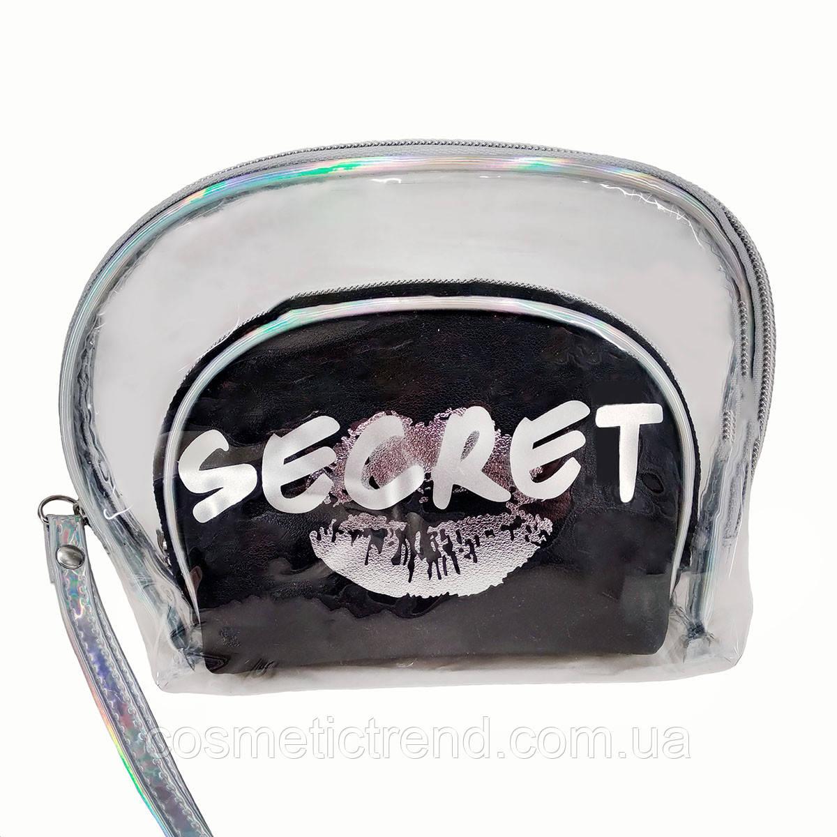 Secret Silver Набор из 2-ух женских косметичек  (силикон, ПВХ, текстиль)