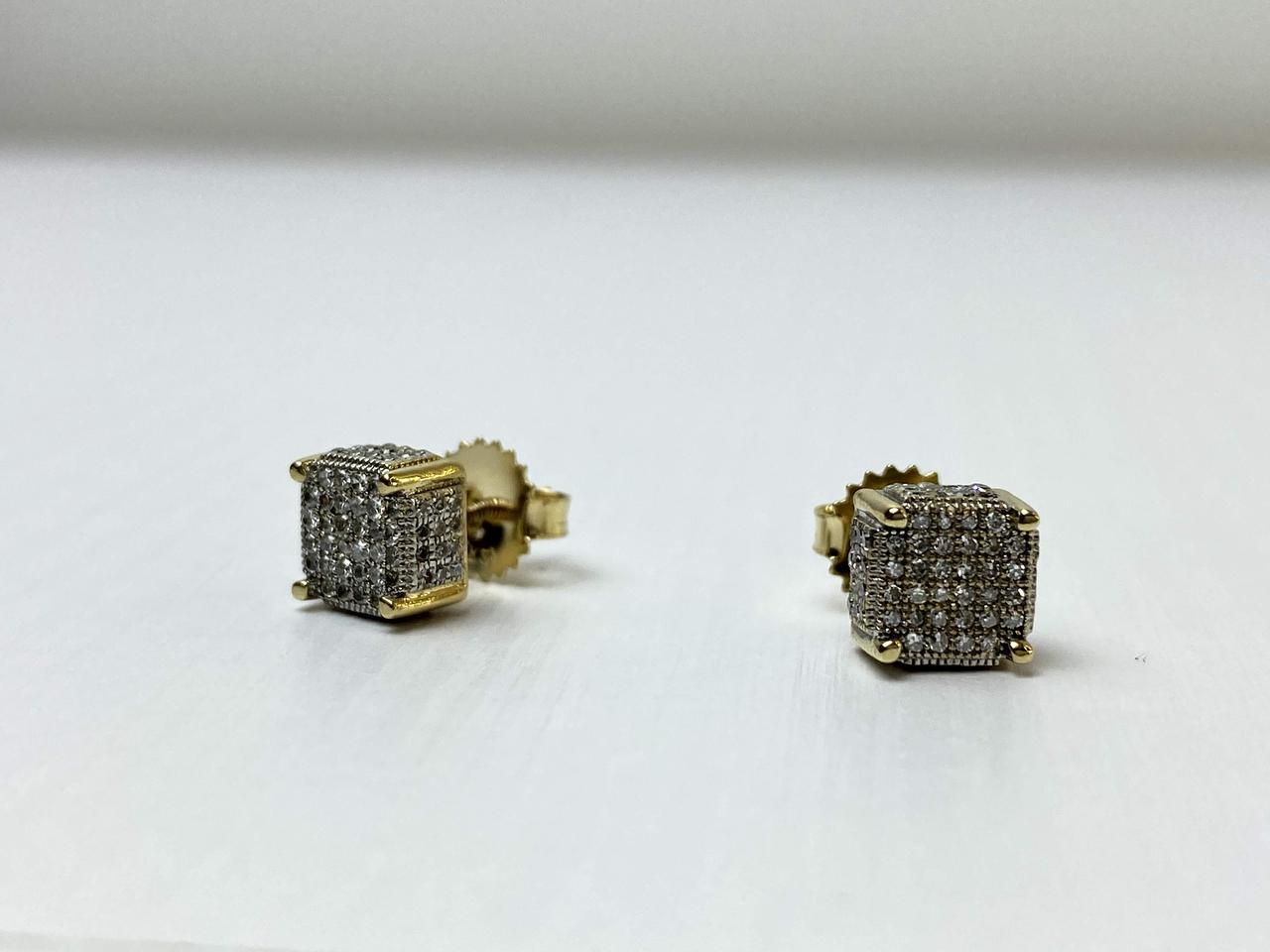 Золоті сережки 14К ( 585 проба) з Діамантами