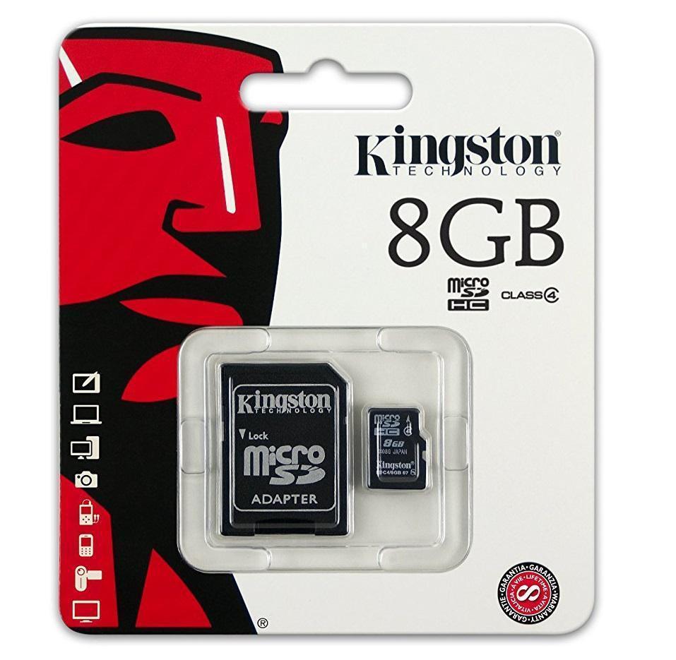 Карта пам'яті KINGSTON micro 8GB (c адаптером)