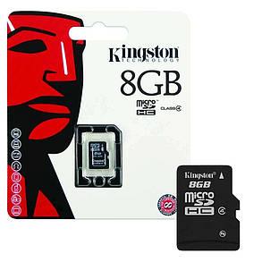 Карта пам'яті KINGSTON micro 8GB (c адаптером), фото 2
