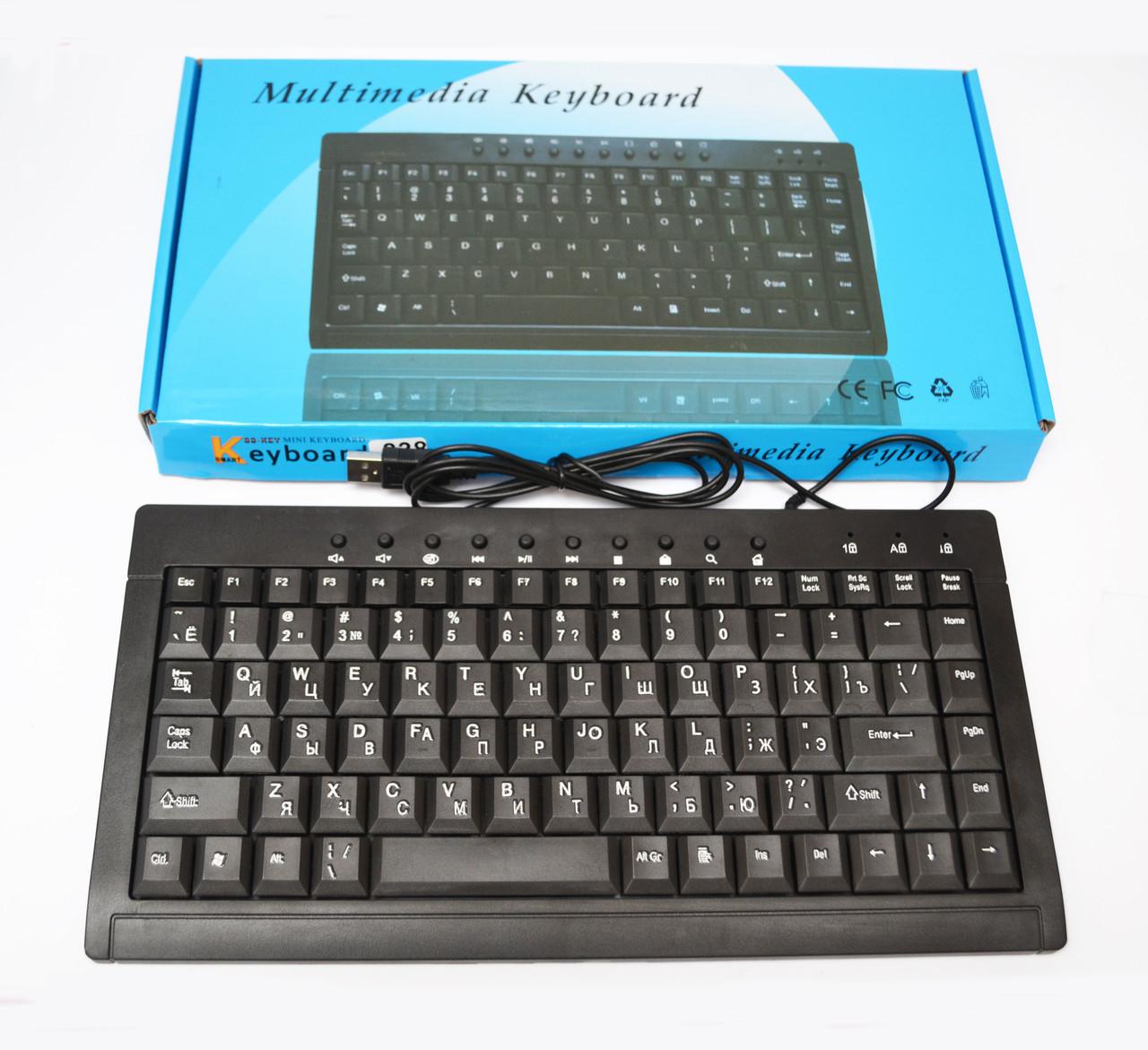 Клавіатура міні провідна 838 USB Black