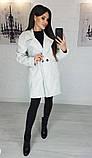 Пальто женское кашемировое, бежевое, серое, молочное, джинс, фото 4