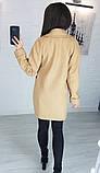 Пальто женское кашемировое, бежевое, серое, молочное, джинс, фото 6