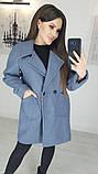 Пальто женское кашемировое, бежевое, серое, молочное, джинс, фото 5