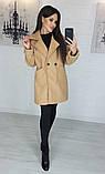 Пальто женское кашемировое, бежевое, серое, молочное, джинс, фото 7