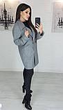 Пальто женское кашемировое, бежевое, серое, молочное, джинс, фото 8