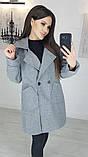 Пальто женское кашемировое, бежевое, серое, молочное, джинс, фото 10