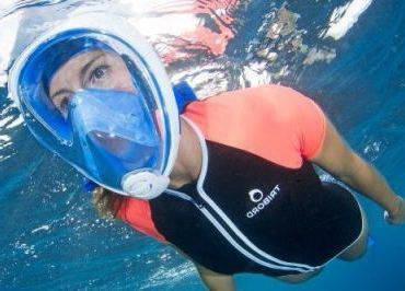 Маска для подводного плавания, маска для снорклинга Easybreath Tribord , фото 2