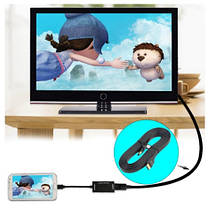 Кабель відео HDMI-HDMI плоский 3м (блістер), фото 2