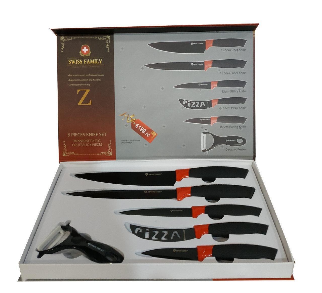 Набор ножей с нержавеющей стали Swiss Family SF-103