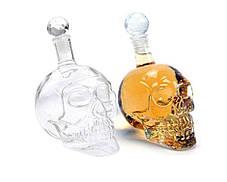 Графін Crystal Skull (у формі черепа) великий, 0,55 л / Графин стеклянный в форме Черепа большой, 550 мл, фото 2