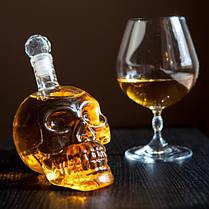 Графін Crystal Skull (у формі черепа) великий, 0,55 л / Графин стеклянный в форме Черепа большой, 550 мл, фото 3