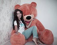 Мягкая игрушка медведь плюшевый коричневый 200 см, 2 метра