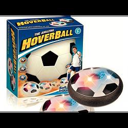 Детский футбольный мяч электрический Hover Ball S с подсветкой Черно-белый