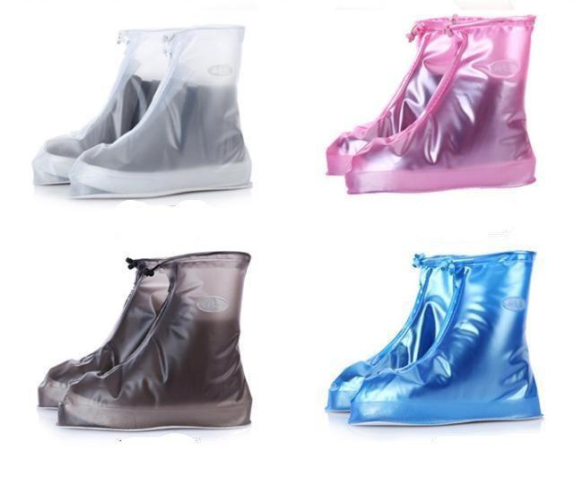 Дождевик для обуви цвет синий розовый прозрачный