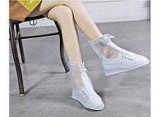Дождевик для обуви цвет синий розовый прозрачный, фото 2