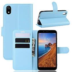 Чехол-книжка Litchie Wallet для Xiaomi Redmi 7A Голубой (hub_ifst74054)