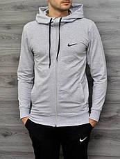 Мужская спортивная кофта в стиле Nike на замке 2 цвета в наличии, фото 3