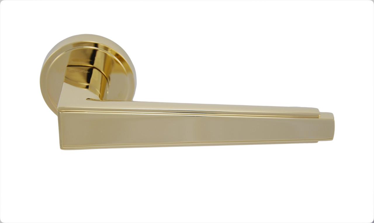 Ручка дверна на безшовної розетки SIBA LUNA, золото PVD