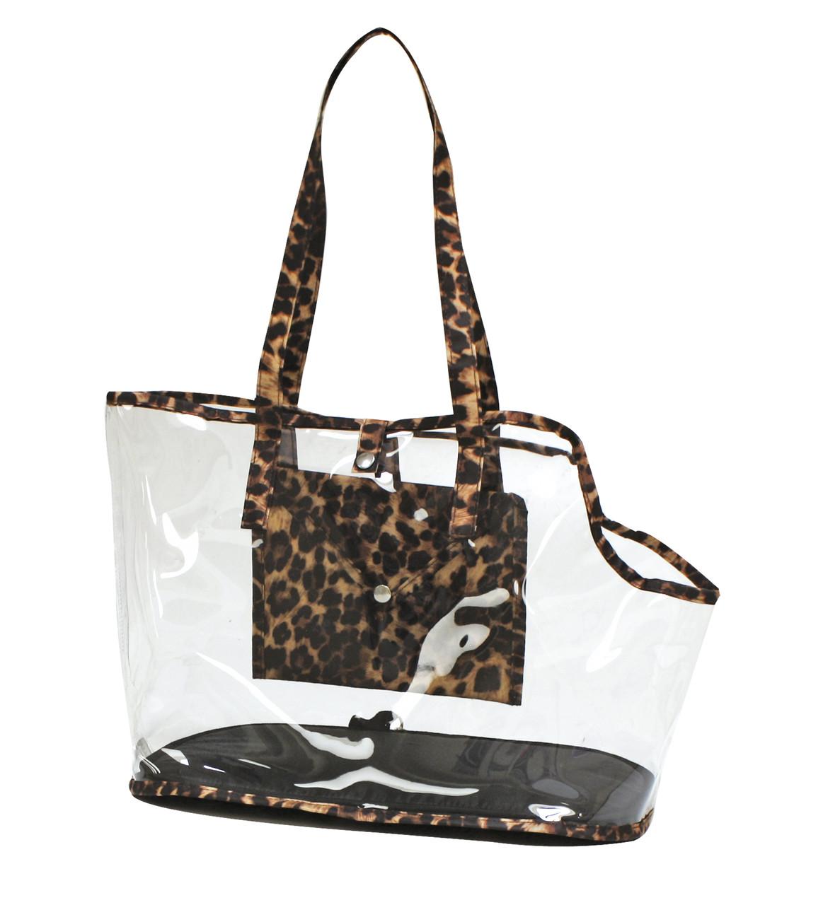 Сумка-переноска для животных 41*21*31 см Croci Invisible Leopard