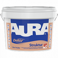 Структурная краска для фасадов и интерьеров AURA Dekor Struktur 10 л