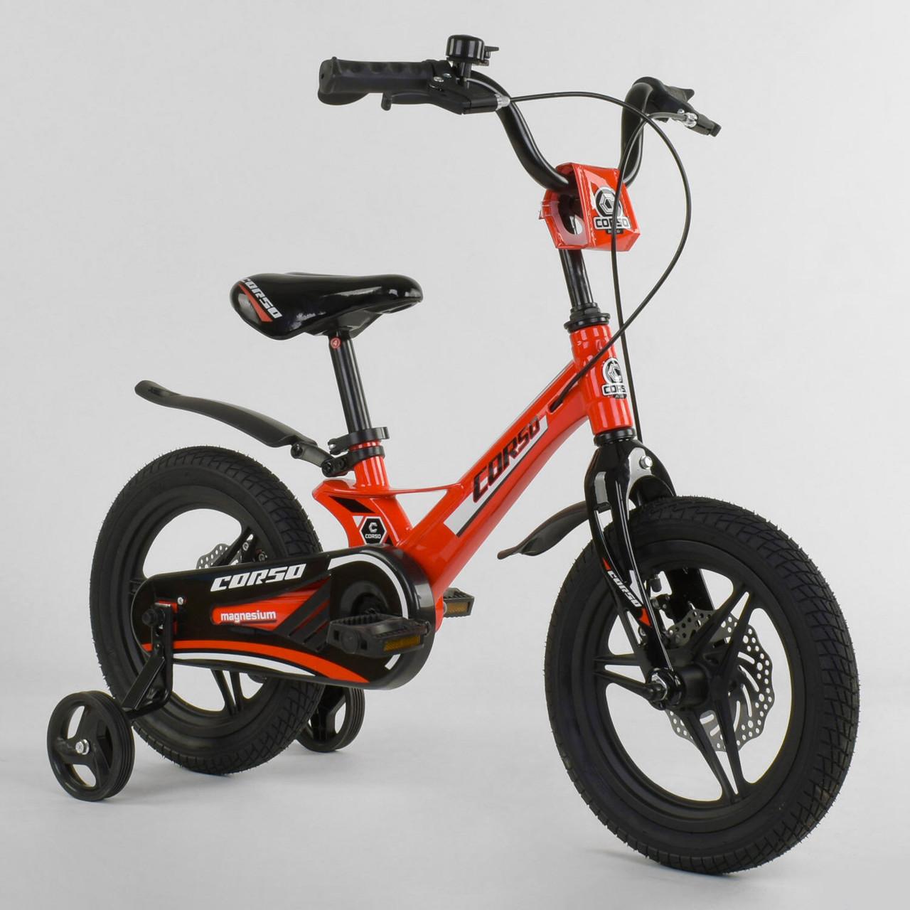 """Велосипед 14"""" дюймов 2-х колёсный """"CORSO"""" MG-66936 Гарантия качества Быстрая доставка"""