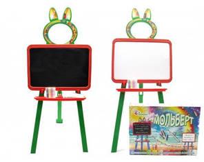 Доска для рисования магнитная Doloni Toys 013777 Оранжево-зеленая