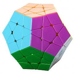 Головоломка мегаминкс QiYi MofangGe 0934C-1 QiYi X-Man Megaminx Stickerless Різнобарвний